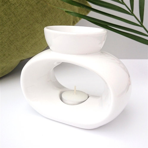 Elegance Ceramic Wax Melter - White
