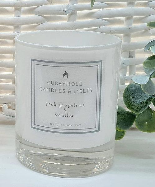 Medium Pink Grapefruit & Vanilla Soy Wax Candle