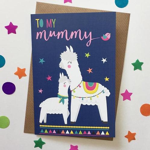 Mummy Card, Alpaca/Llama
