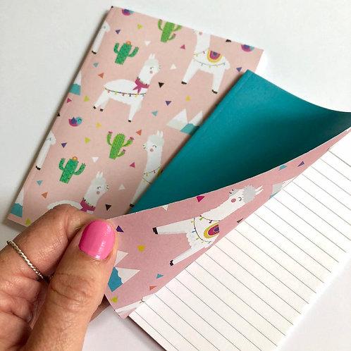 Alpaca/ Llama A6 Lined Notebooks. Set of 2