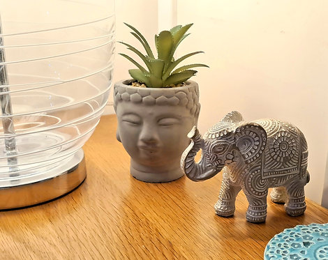 Buddha Head Artificial Succulent Planter