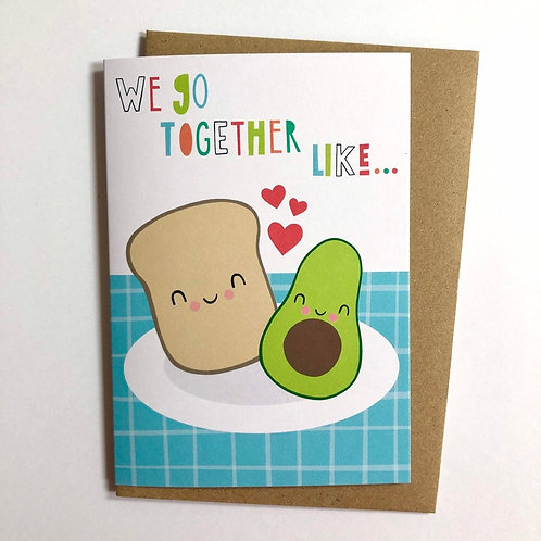 Avocado and Toast Card