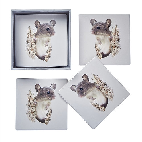 Cute Field Mouse Ceramic - Coasters