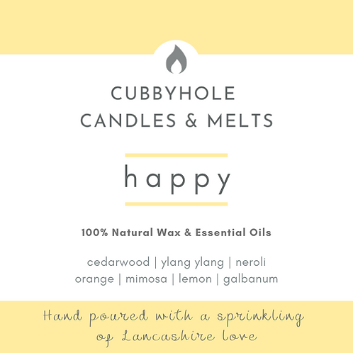 'Happy' Soy Wax Melts - Wellbeing Collection
