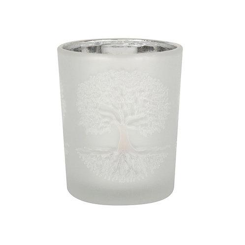 Tree of Life Glass Tealight Holder