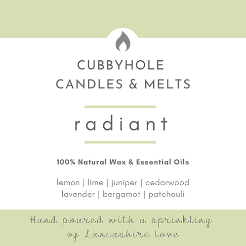 'Radiant' Soy Wax Melts - Wellbeing Collection