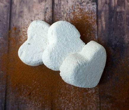 Bath Bomb Pack - Spiced Cedar - Pack of 3 Hearts