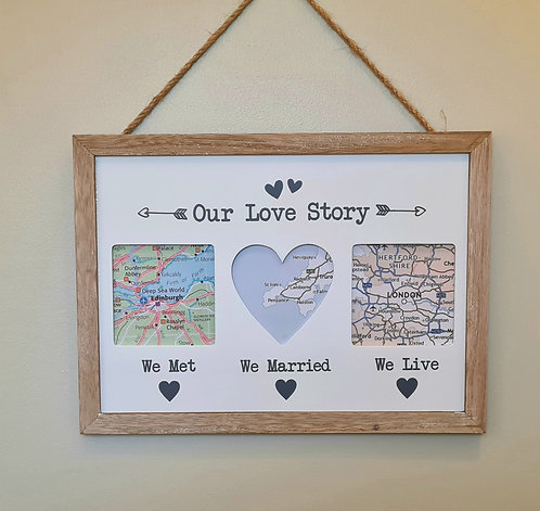 Our Love Story Picture Frame