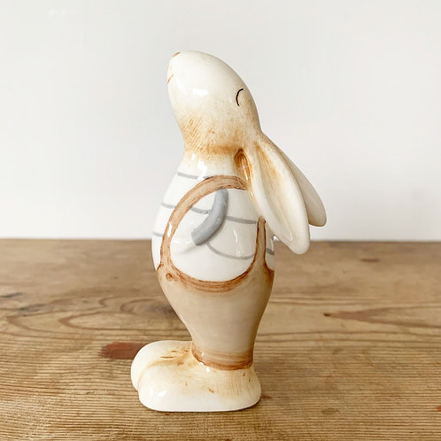 Cute Bunny Wearing Dungarees - 11cm