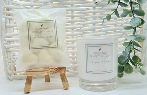 Medium Lemongrass & Ginger Soy Wax Candle