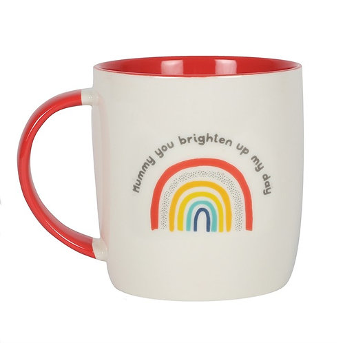 MUMMY YOU BRIGHTEN UP MY DAY RAINBOW MUG