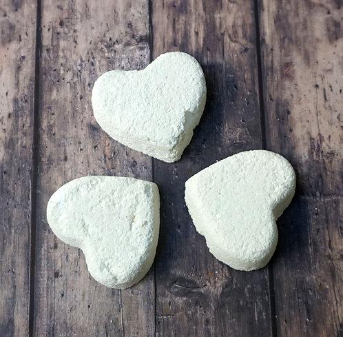 Bath Bomb Pack - Rosemary & Eucalyptus - Pack of 3 Hearts