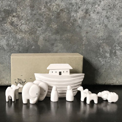 Porcelain Noah's Ark Keepsake