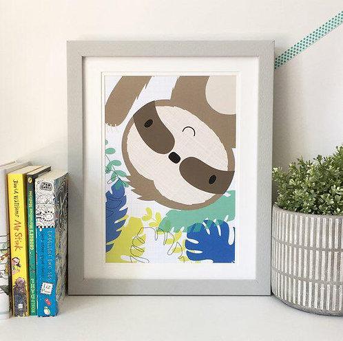 Slothin' About... A4 Print
