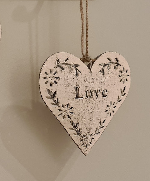 Rustic Metal Heart with Saying