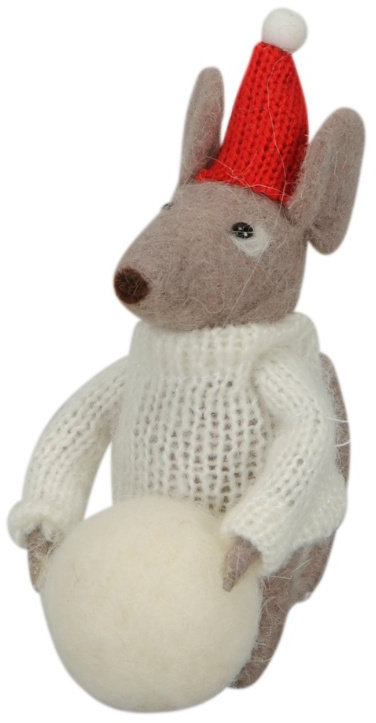 Woollen Christmas Mouse