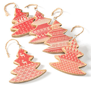 Hanging Wooden Tree Decoration