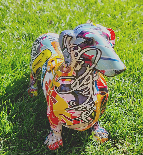 Graffiti Dachshund Ornament - Sausage Dog