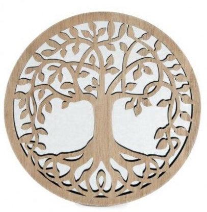 Round Tree of Life Mirror