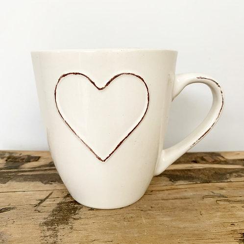 Heart Embossed Mug (11cm)