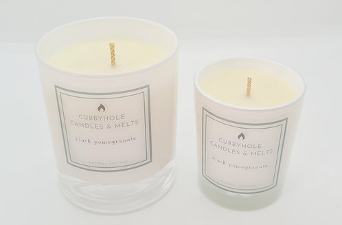 Large Black Pomegranate Soy Wax Candle
