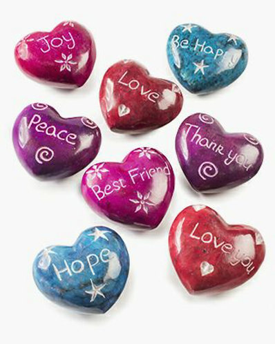 Soapstone Heart with Message