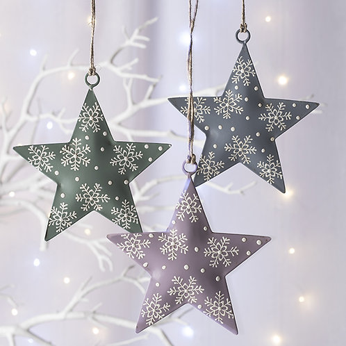 Hand Painted Star Hanging Decoration