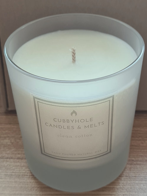 Large Clean Cotton Natural Wax Candle