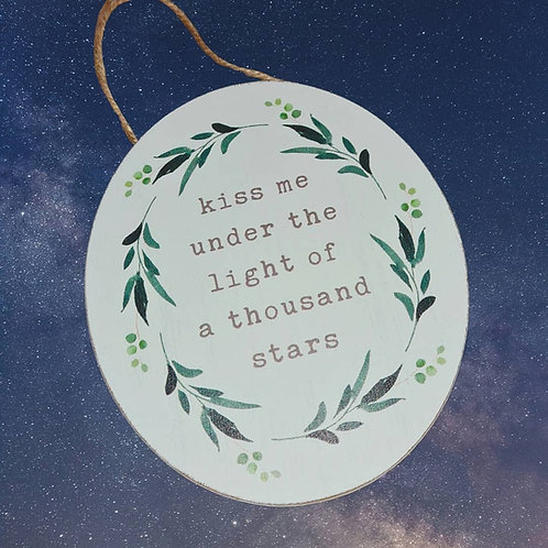 Shabby Chic Hanging Wooden Plaque