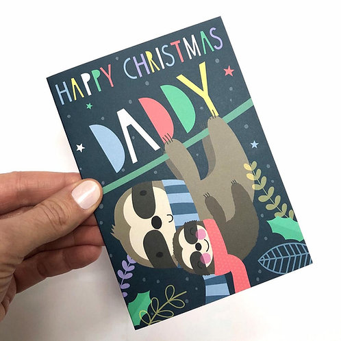 Daddy Sloth Christmas Card
