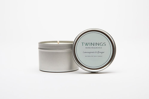 Lemongrass & Ginger Soy Wax Candle Tin
