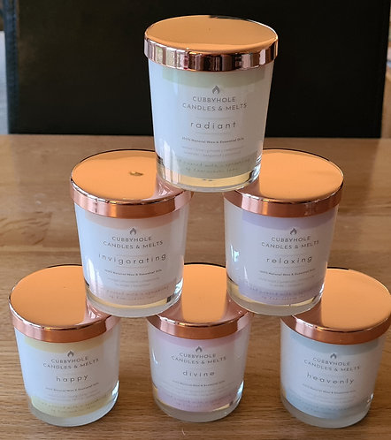 Aromatherapy Soy Wax Candles - Wellbeing Collection  9cl