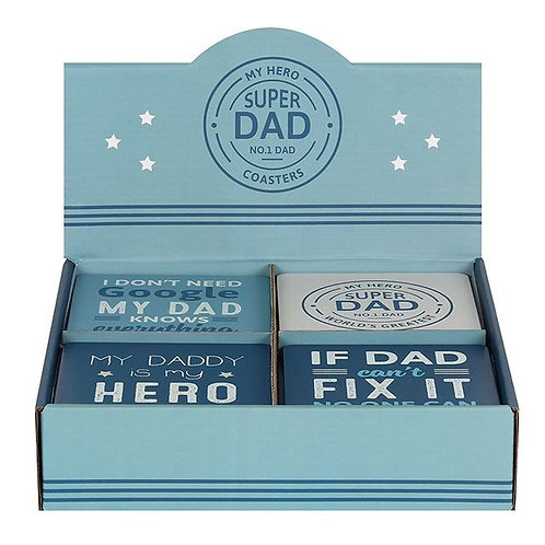 SUPER DAD COASTERS