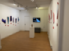 TimeWindows: Perspective Nouveau | solo art exhibition by interdisciplinary artist, Bojana Randall at M Galleries, Washington NJ | sculptures, paintings, and poetry about space-time