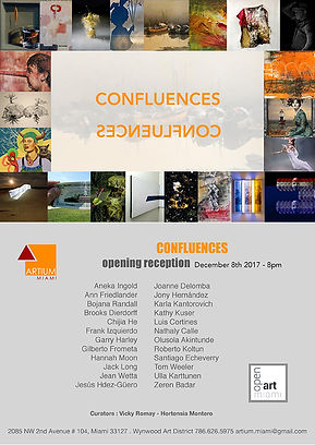 Confluences | group art exhibition at Artium Gallery in Miami, FL including two multidimensional paintings by artist, Bojana Randall