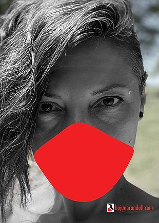 Masked (2020) | digital artwork/ digital photograph by interdisciplinary artist, Bojana Randall (self-portrait during times of Covid)