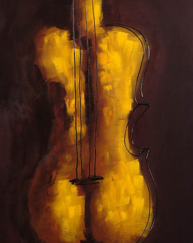 She is Violin | acrylic painting by Bojana Randall