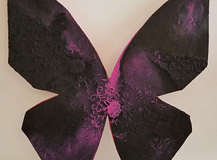 Gothic | abstract butterfly wall sculpture painting by Bojana Randall