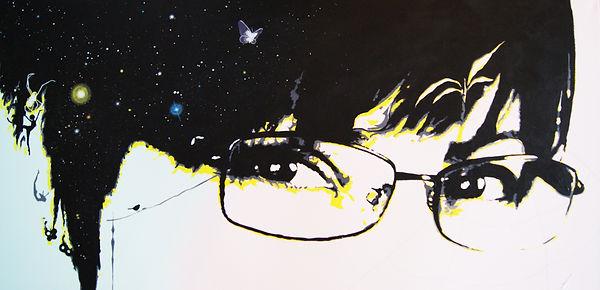 Changes   acrylic self-portrait painting by Bojana Randall