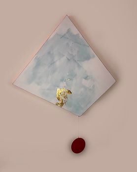Empirical Stones | acrylic and gold leaf on board | Bojana Randall, artist
