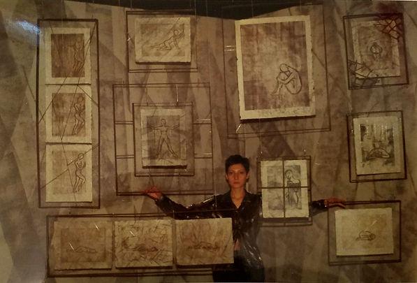 Isolated Essence Installation (2000) with artist, Bojana Randall
