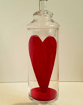 Emergence | Jar of Hearts sculpture series by Bojana Randall red heart