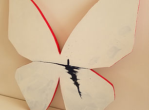 Solo | abstract butterfly wall sculpture painting by Bojana Randall