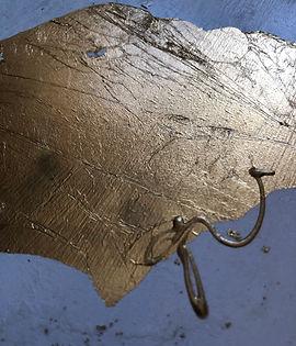 Pendulums: Part Deux | gold-leaf closeup with artist signature