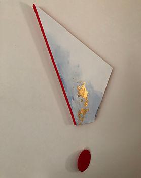 Footprint | acrylic and gold leaf on board | Bojana Randall, artist