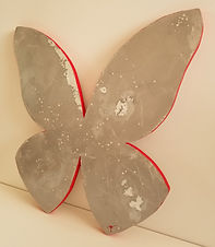 Silver | abstract butterfly wall sculpture painting by Bojana Randall