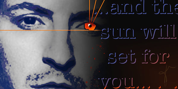 Sunset | digital collage of Chester Bennington of Linkin Park by Bojana Randall