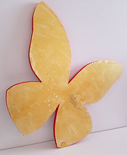 Gold | abstract butterfly wall sculpture painting by Bojana Randall