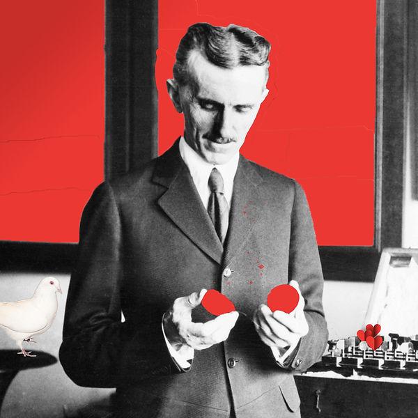 Broken-Hearted Genius | digital collage of Nikola Tesla by Bojana Randall
