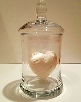Foolish | Jar of Hearts sculpture series by Bojana Randall | tape heart
